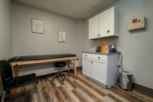 Meridian Clinical Research in Hastings, NE, suite 102 - exam room