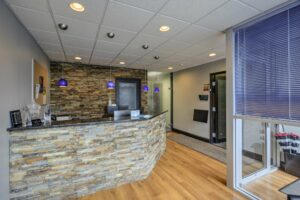 Meridian Clinical Research headquarters - front desk interior