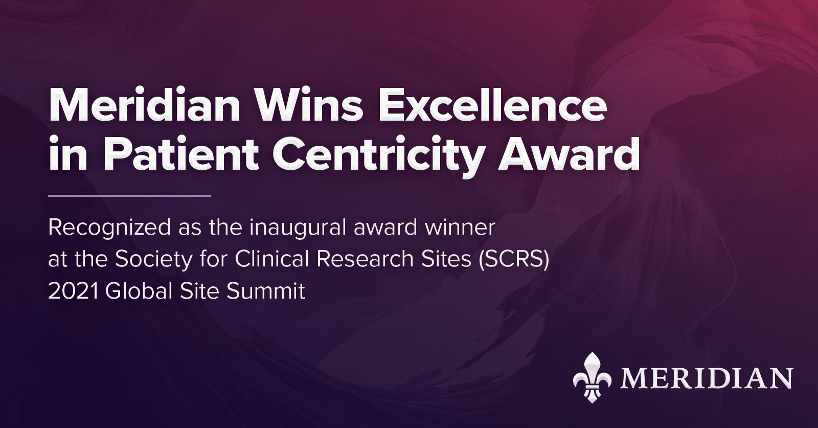Meridian Wins Excellence in Patient Centricity Award